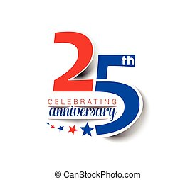 25th Years Anniversary Celebration Vector Design.