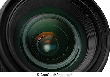 photo camera lens close-up