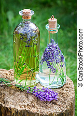 Homemade healthy tincture of lavender