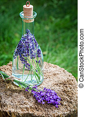 Healthy tincture made of lavender