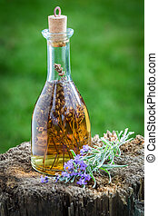 Homemade and healthy tincture made of lavender