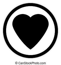 Love sign button - Love sign button isolated on white...
