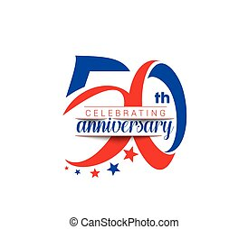50th Years Anniversary Celebration Design.