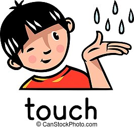 Touch Sense icon - Icons of one of five senses - touch...