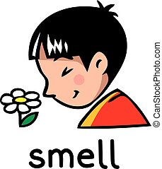 Smell Sense icon - Icons of one of five senses - smell...