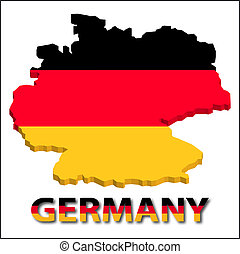 Germany territory with flag texture.