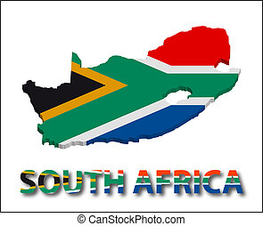 South africa territory with flag texture.