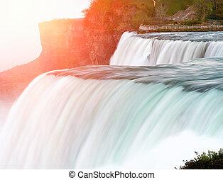 Niagara Falls - American side of Niagara Falls, New York,...
