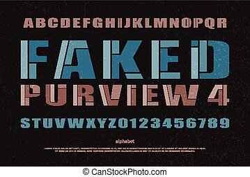purview - mosaic style alphabet letters and numbers vector...