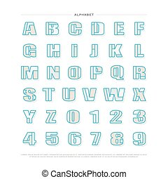 settled - mosaic style alphabet letters and numbers vector...