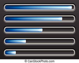 Loading bar on a black background