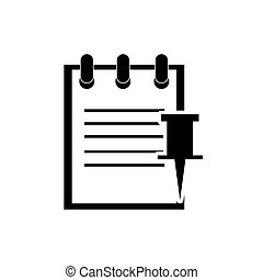 notepad and push pin icon