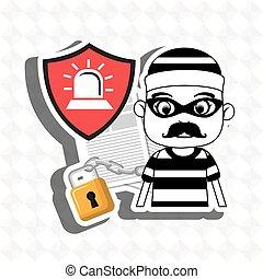 confidencial segurity information doc vector illustration...