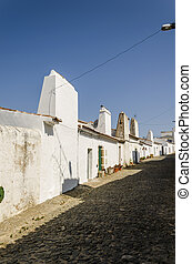 streetview in alentejo - street of evoramonte a small...