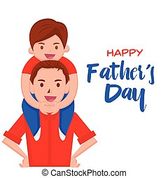 Happy Moment - Happy Father's Day Cartoon - Happy Moment