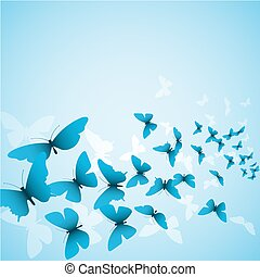 Butterfly Background - A Butterfly Background in Blue