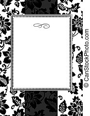 Vector Striped Rose Frame - Vector decorative frame Easy to...