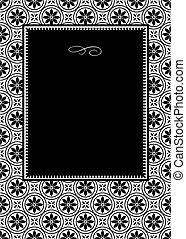 Vector Black Daisy Frame