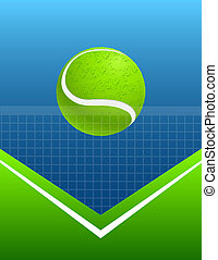 abstract sport background tennis vector - blue and green...