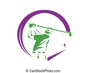 Hole In One Purple Symbol - Modern Golf Logo - Hole In One...