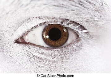 beautiful brown eyes male closeup