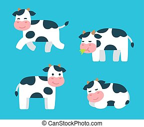 Cartoon Cow set