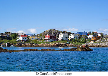 Village Skrova on Lofoten Islands - The Norwegian village...