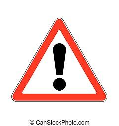 varning, väg, underteckna