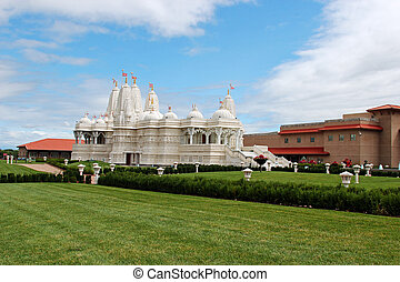 Swami Narayan Hindu Temple in Chicago, Illinois, selective...