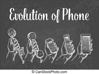Evolution of communication devices from classic phone to...