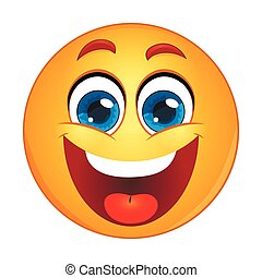 Yellow smiley laughing