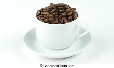 ?offee mill,coffee beans,roasted coffee. Rotation. White