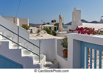 Paros island, Cyclades, Greece - Small white church with...