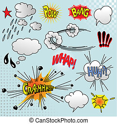 Comic elements - Illustration of comic elements for your...