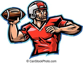 American Football Quarterback Throw