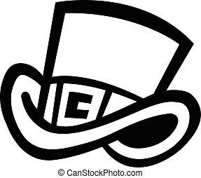 Top Hat Vector Icon