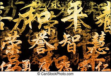 Orange Zen Grunge Abstract Background