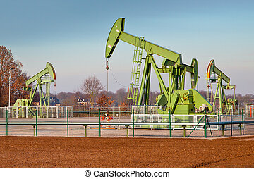 Group of Oil Pump Jacks