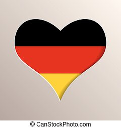 Heart with Germany flag on background
