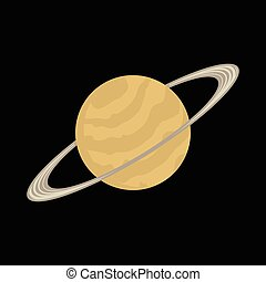 Ringed planet vector