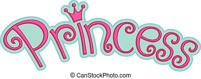 Pink Girly Princess Logo