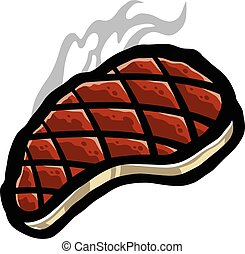 Ribeye steak Clipart Vector and Illustration. 53 Ribeye steak clip ...