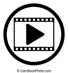 Film strip button. - Film strip button on white background....