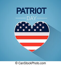 United States Flag Heart Shape National USA Patriot Day...