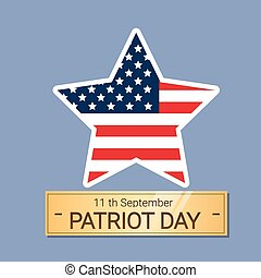 United States Flag Star National USA Patriot Day Banner Flat...