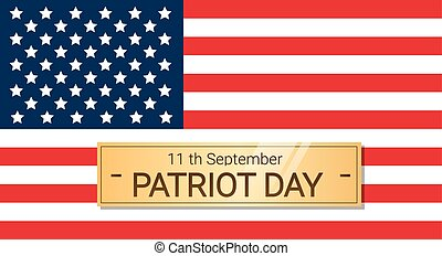 United States Flag National USA Patriot Day Banner Flat...