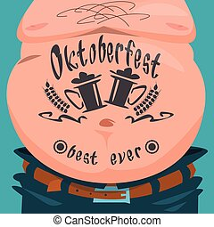 Belly Tattoo Oktoberfest Festival Banner