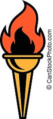 Torch Flame vector icon