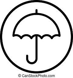 Rain Umbrella vector icon
