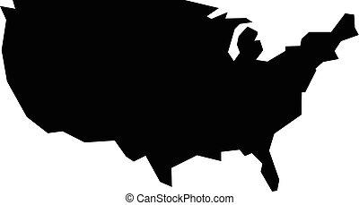 USA Country Shape